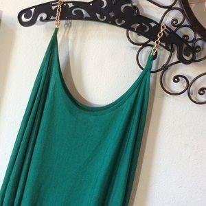 bebe Tops - BeBe Green Dolman Mesh Golden Chin Link Blouse